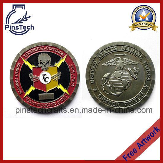 Marine Souvenir Coin, 2 Side 3D Coin