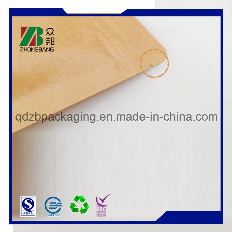 Stand up Ziplock Kraft Paper Bag for Coffee Tea Packaging