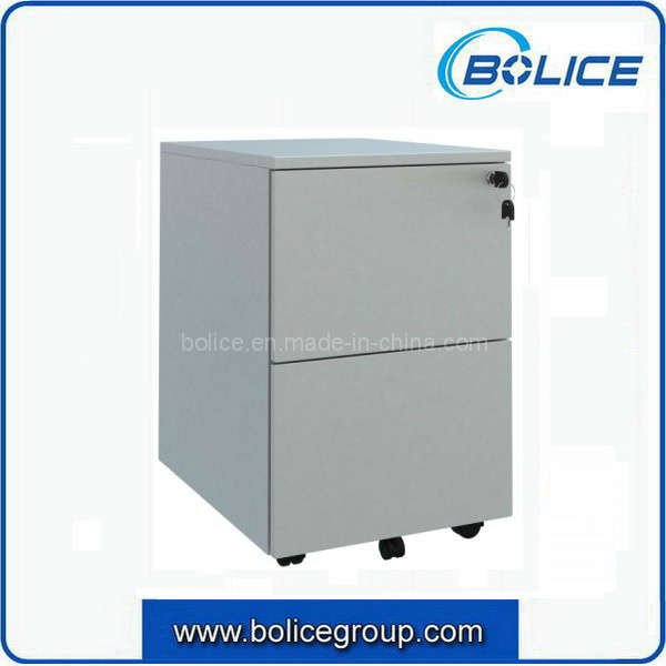 2 Drawers Metal Mobile Cabinet for Office Use