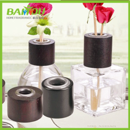 Different Designs Wooden Perfume Bottle Cap Black