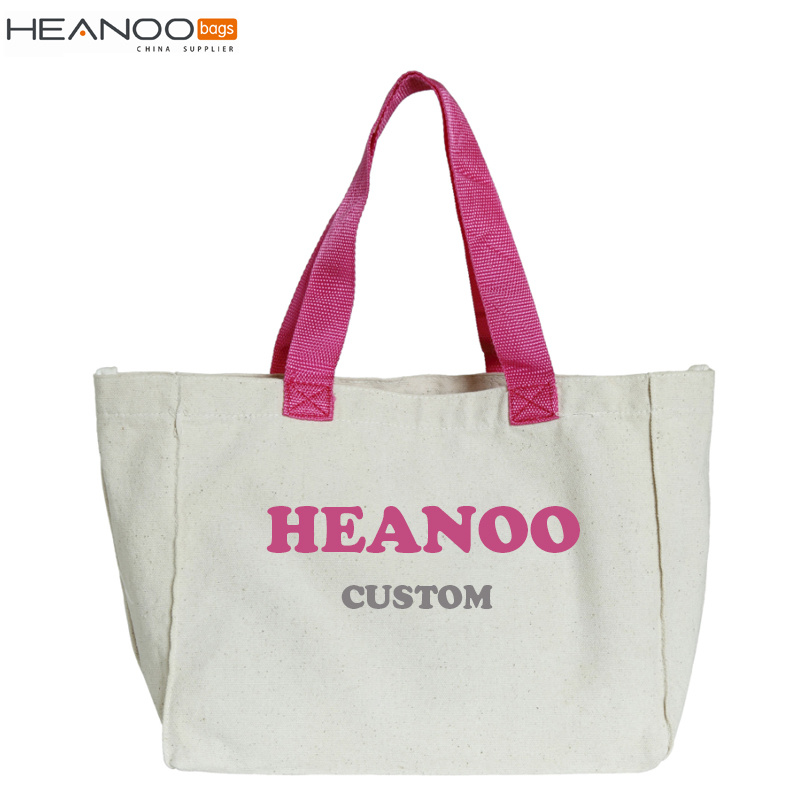 Foldable Fabric Recycle/Eco/Grocery Non Woven Tote Gift Beach Shopping Canvas Cotton Bag
