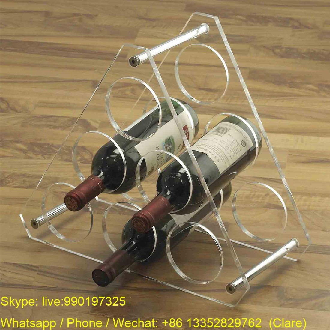 Clear Acrylic Wine Storage Display Rack