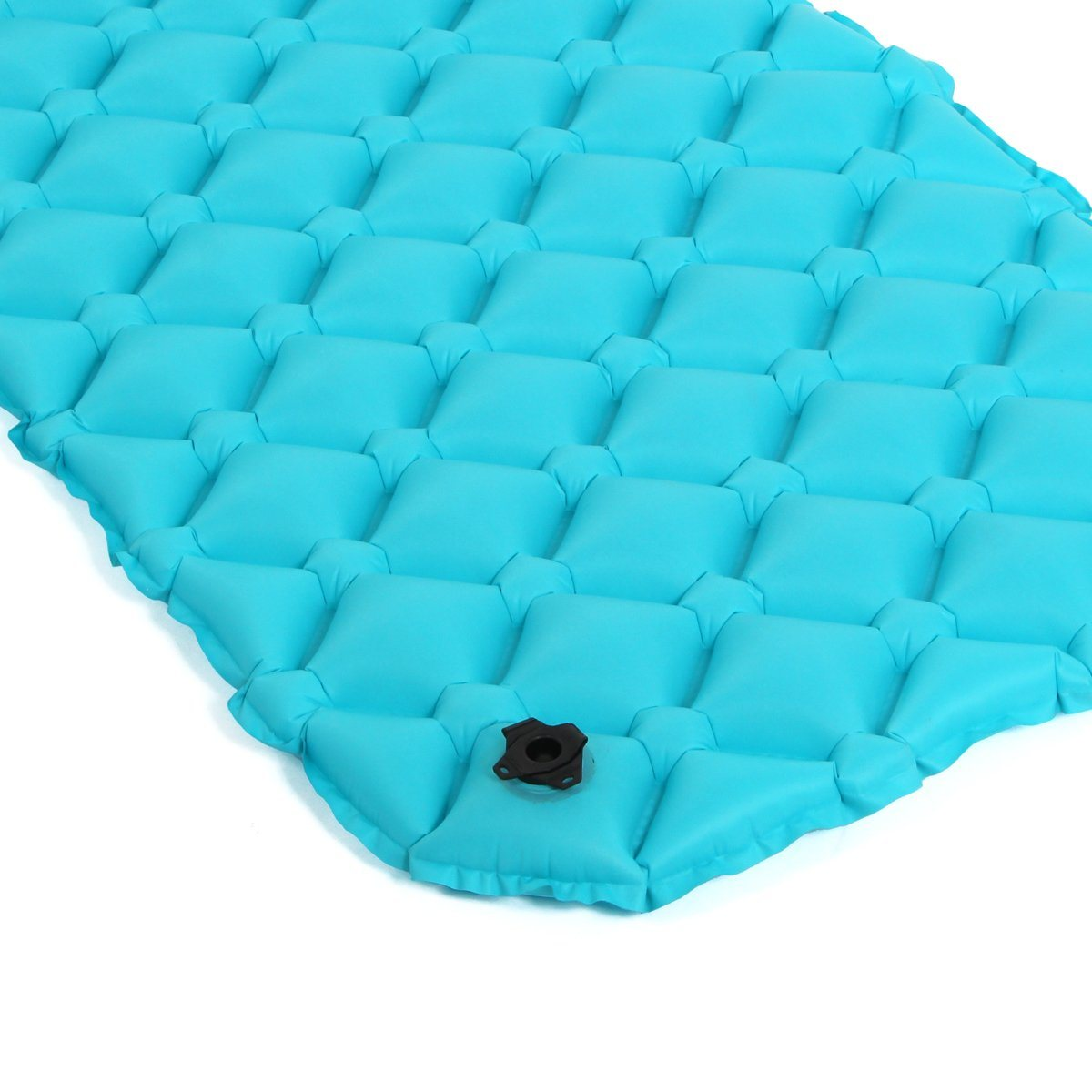 Airlite Sleeping Pad for Camping, Backpacking, Hiking. Fast Inflatable Air Tube Design with Built in Pump