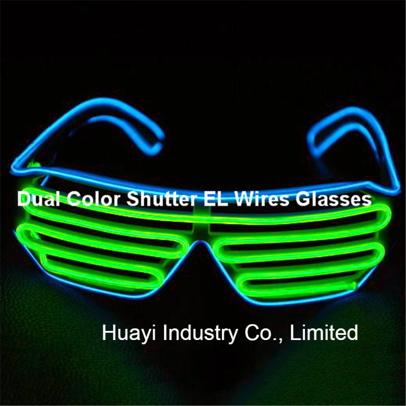 Dual Colour Shutter EL Sunglasses