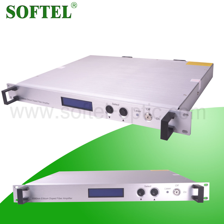 Softel 1550nm Erbium-Doped Optical Fiber Amplifier/15dB CATV EDFA Fiber Optical Signal Amplifier