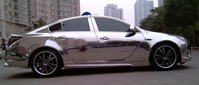 china chrome silver car color change film china chrome