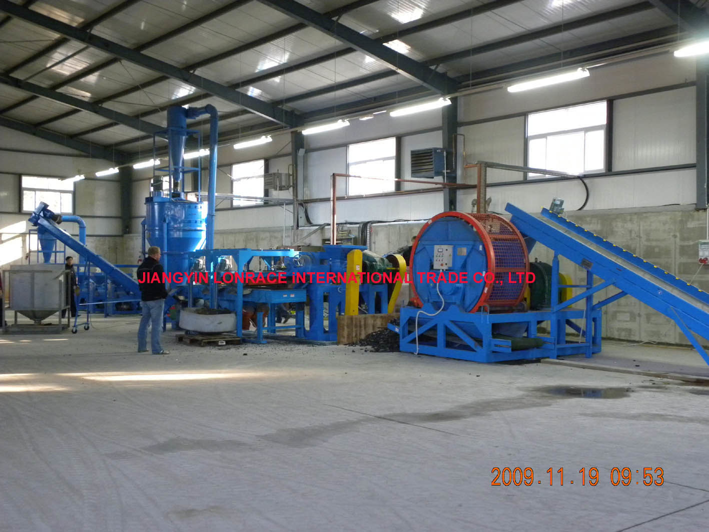 Tire recycling equipment for Tractor tire recycling