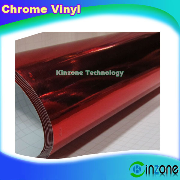 China Chrome Red Sanding Surface Style Vinyl Film Car Wrap