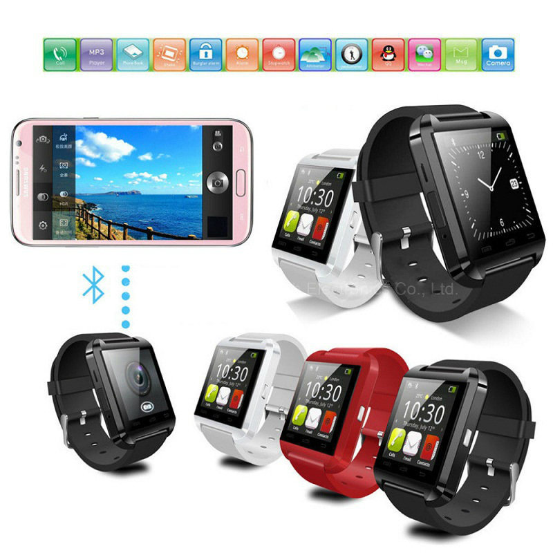 Factory Direct Smartwatches Bluetooth Smart Watch U8 for Ios and Andriod Mobile Phone Big Promotional U8