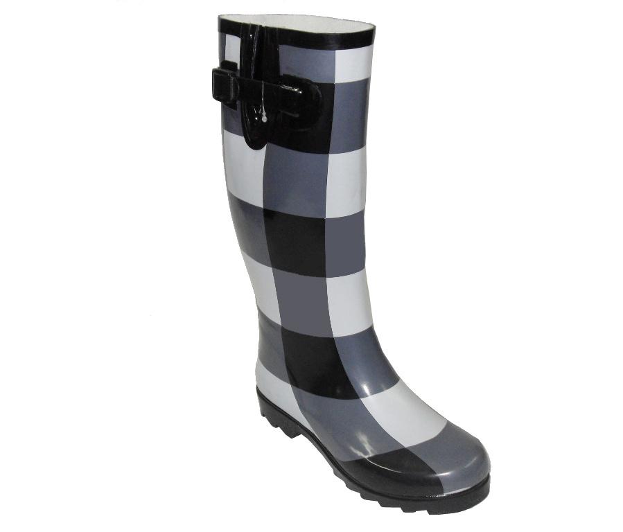 China Newly Lady's Printed Fashion Rubber Boots - China ...