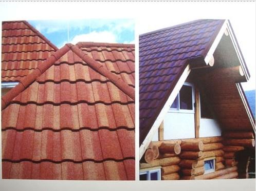 Azulejo romano 02 hl1105 del material para techos de acero revestido de piedra azulejo - Azulejos roman ...