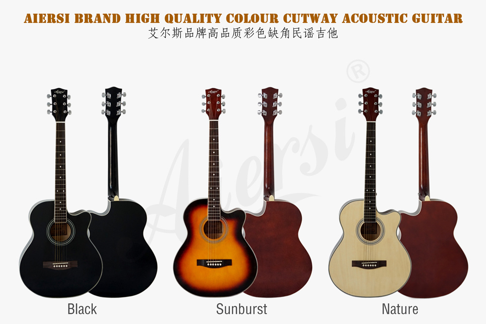 40 Inch Colour Lindenwood Body Om Acoustic Guitar