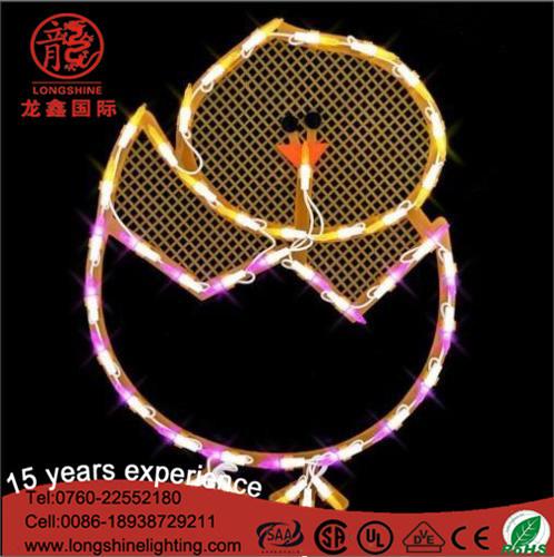 LED 2D Motif Holiday Decorating Lights for Easter