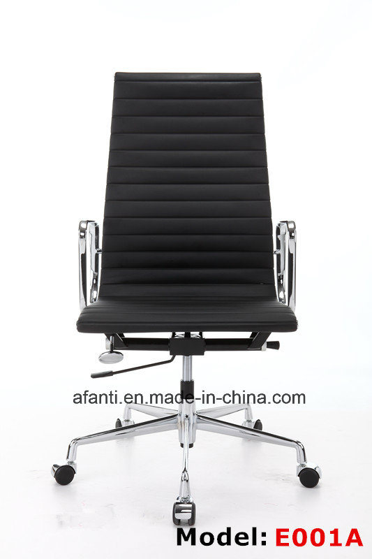 Modern Furniture Eames Swivel Aluminum Leather Hotel Office Chair (RFT-B02)