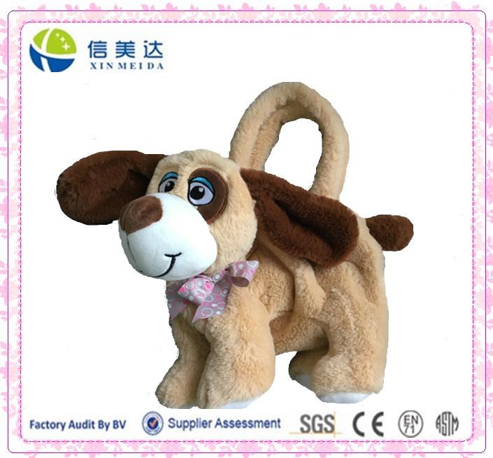 Lovely Plush Dog Shaped Candy Bag and Handbag