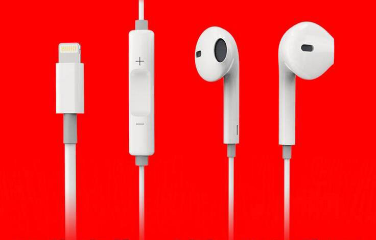 8pin Lightning Headset Earphone for iPhone7 Mobile Phone Accessories