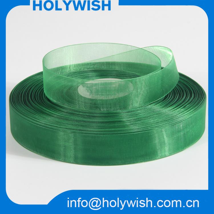 Wholesale Nylon Satin Wired Sheer Organza Ribbon for Bows