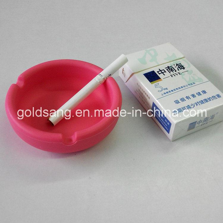 Factory Customize Promotional Gift Creative Round Silicone Ashtray