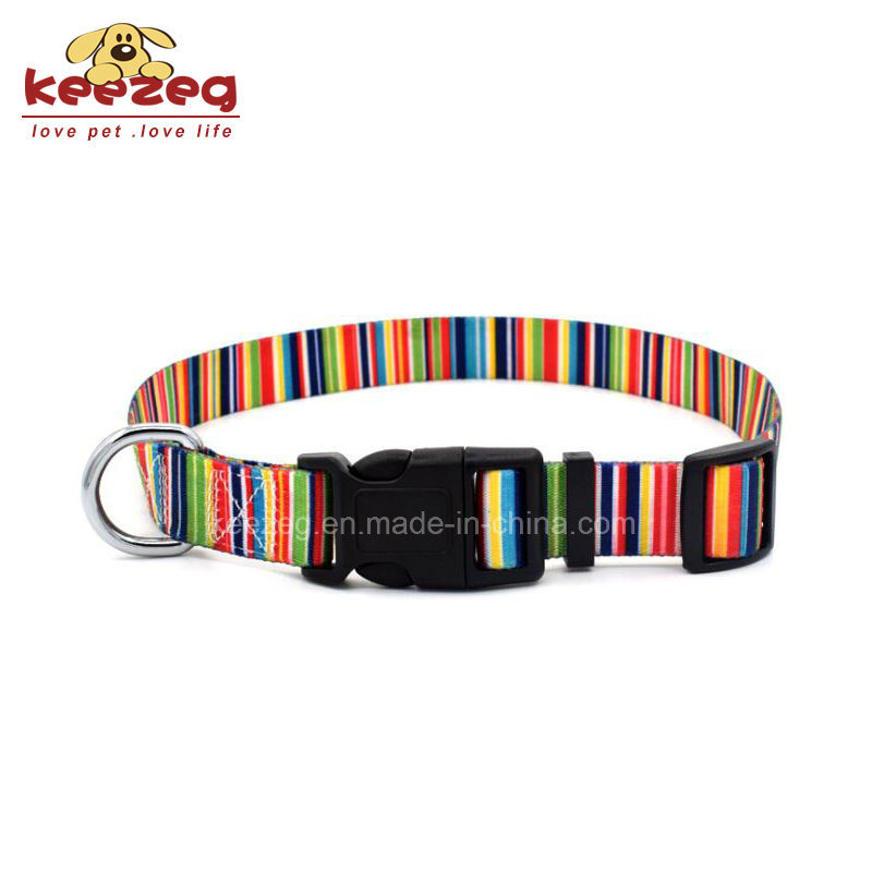 New Style Nylon Transfer Printing Dog Cat Collars (KC0094)