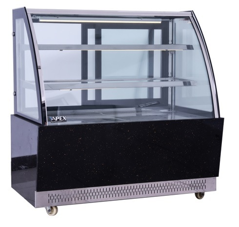 Superior Quality Curved Glass Cake Showcase with Embraco Compressor
