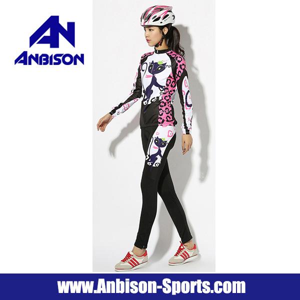 Outdoor Cycling Catwomen Long Sleeve Women′s Bike Wear Suit