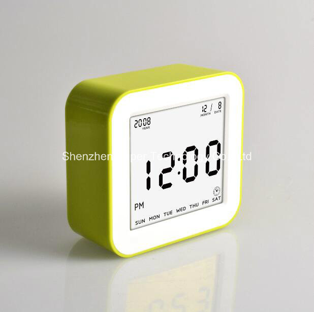 Flip Cube LCD Screen (3.2*2.9 inch) Digital Alarm Clock Weight Control