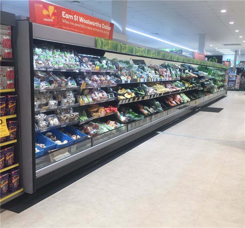 Customize Different Styles Multideck Open Refrigerator Showcase for Supermarket