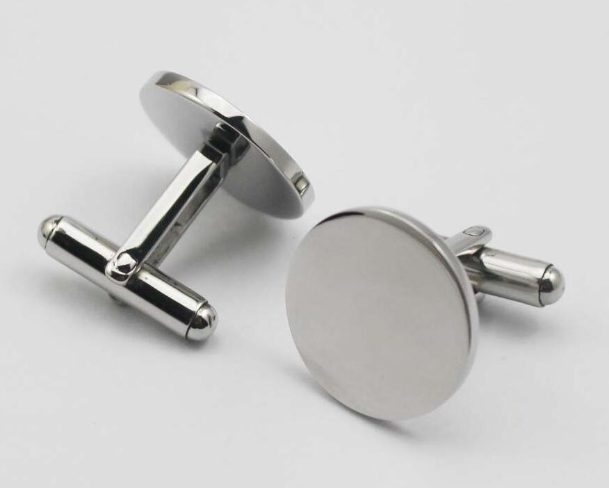 Personalized Cufflinks Fashion Stainless Steel Jewelry Cuff Links