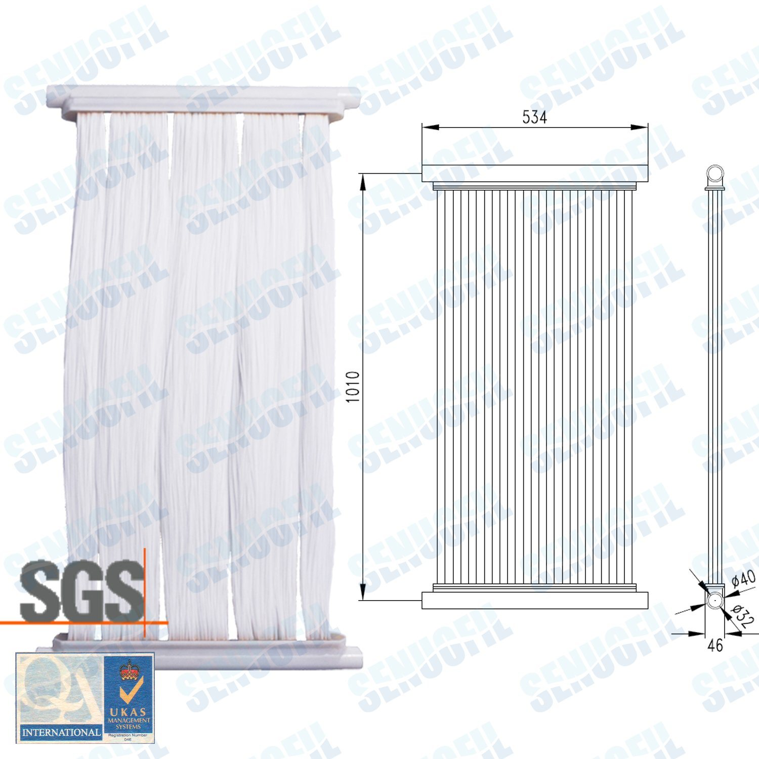 Submerged Curtain Mbr Membrane Module for Wasteater Treatment (SN-MBRI)