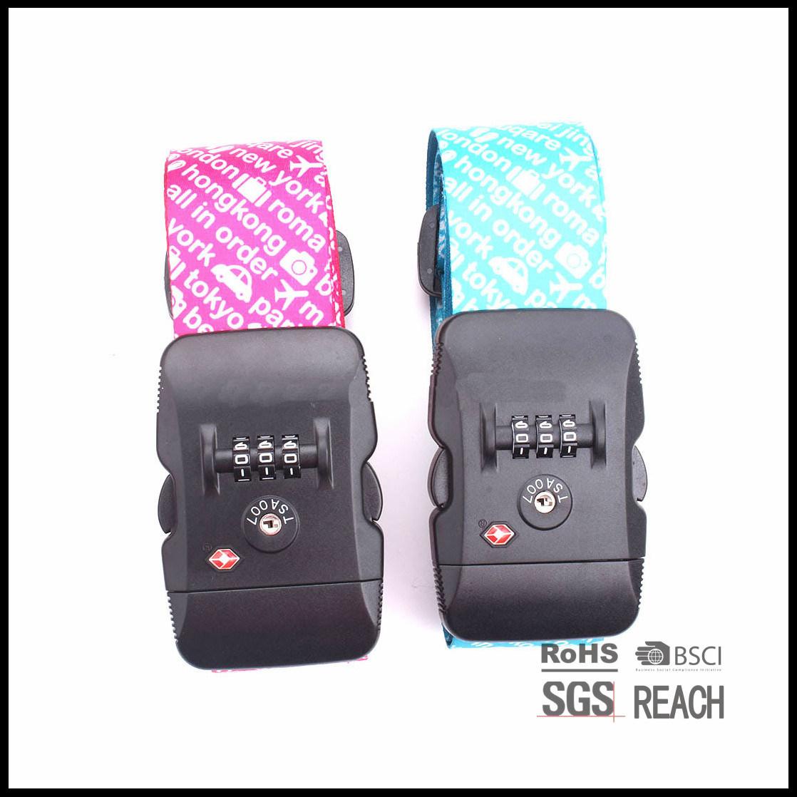 Heavy Duty Extra Long Luggage Strap with Tsa Approved Lock Reflex Belt Suitcase Luggage