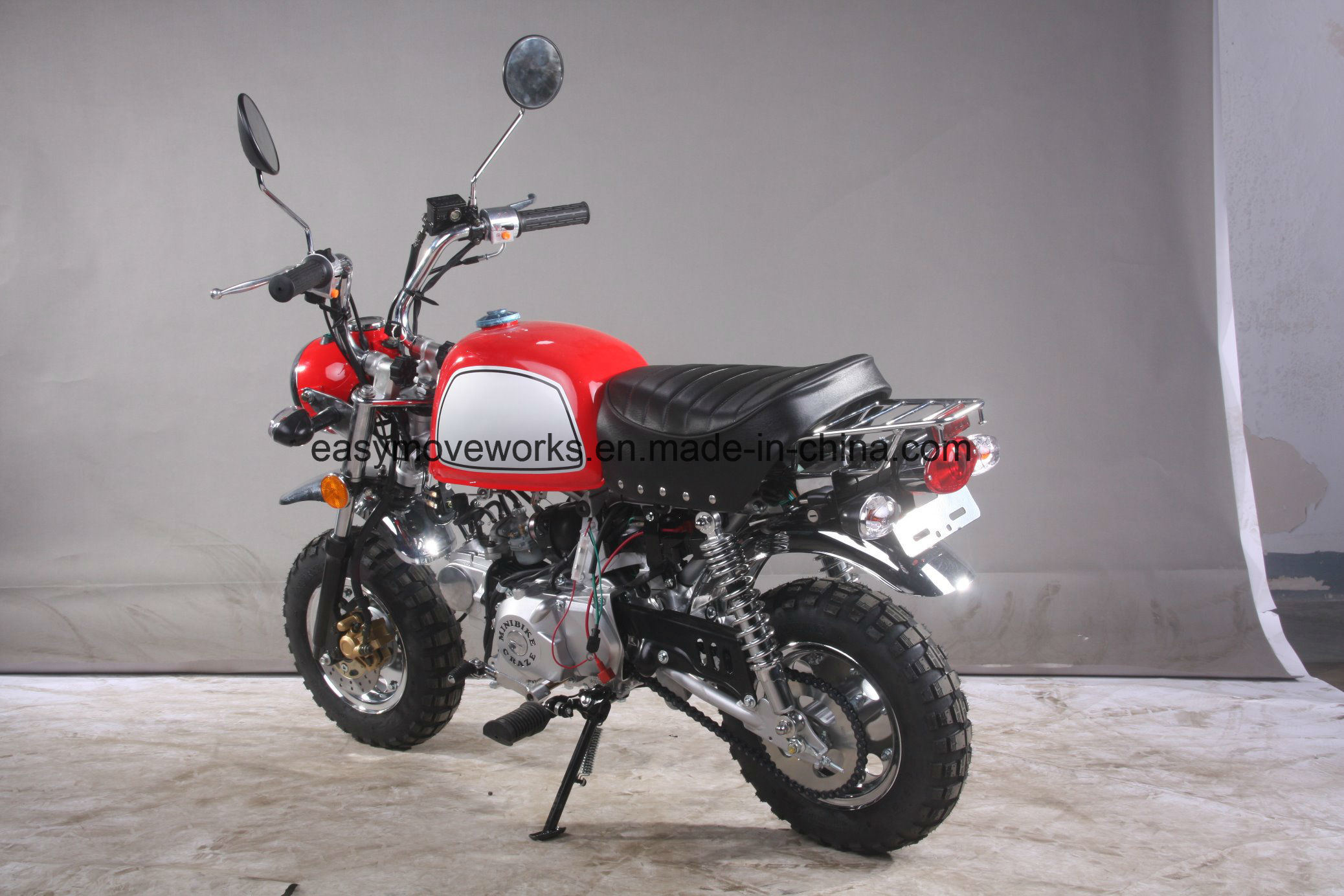 Zhenhua Classic Motorcycle Monkey Bike Euro 4 50cc Big Tank