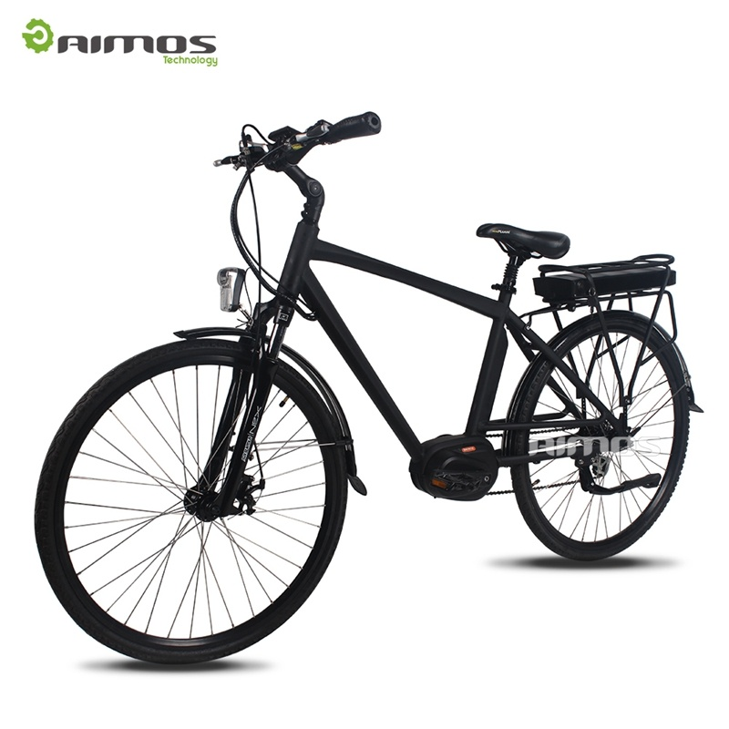 36V 250W MID Drive Mountain Electric Bike with All Suspension