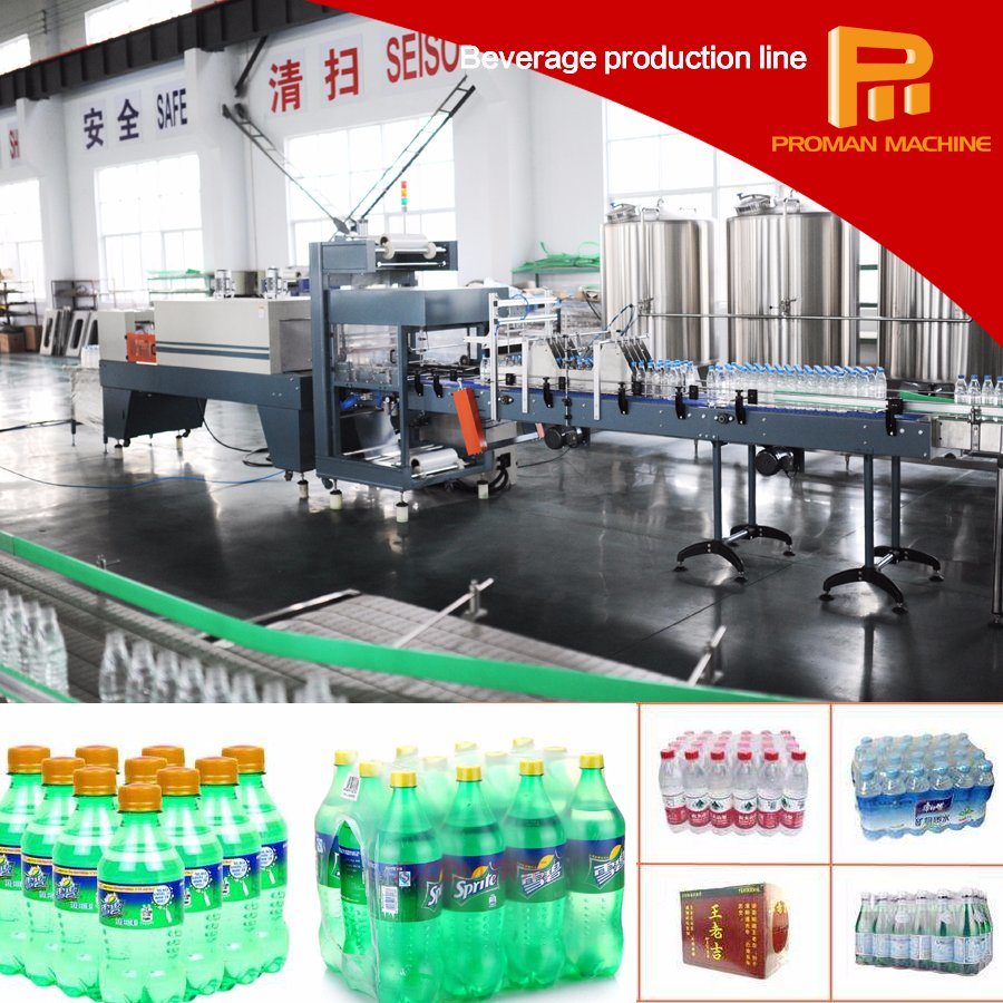 Automatic Bottle PE Film Shrink Wrapping Packing Machine Factory Price