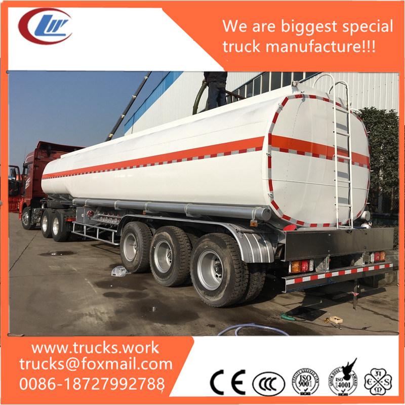 4axles Stainless Steel Fuel Tank 40000liters Oil Trailer Fuel Tank