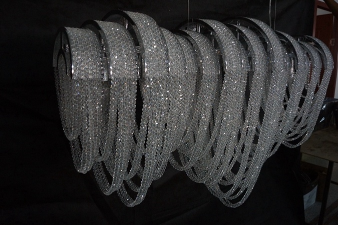 Luxury Custom-Made Decorative Project Chain Crystal Chandelier (KA11611)