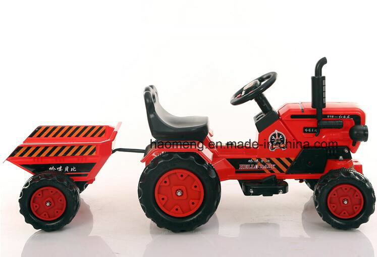 Four Wheel Kids Electric Tractor with Trailer