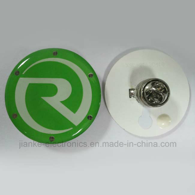 LED Flashing Pin Badge Gifts with Logo Printed (3161)