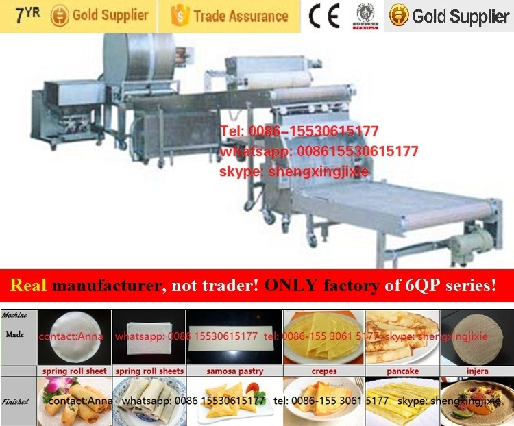Best Selling Auto Samosa Sheets Machine/Samosa Pastry Machinery/Spring Roll Sheet Machine/Injera Machine (manufacturer/factory)