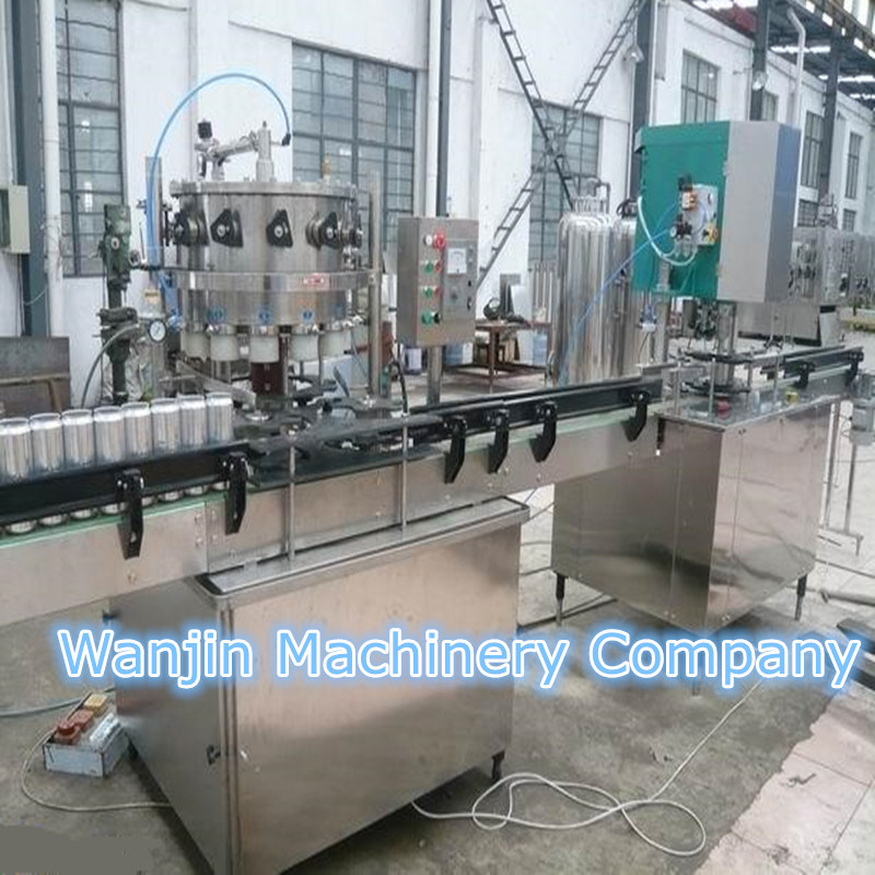 Monobloc 2 in 1 Juice Can Filling Sealing Machine