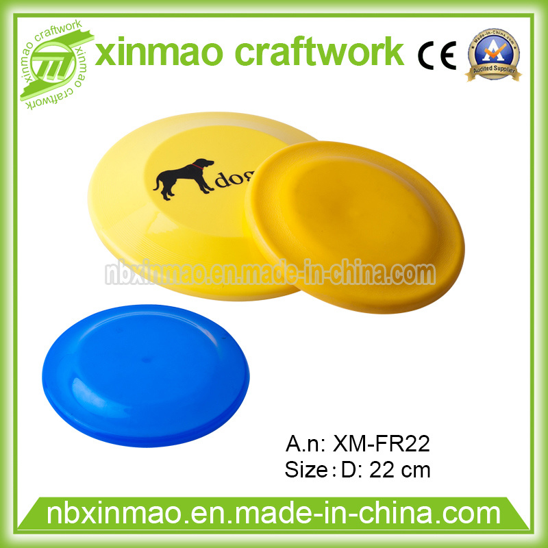 22cm Plastic Frisbee with Full Logo for Pet Toys.