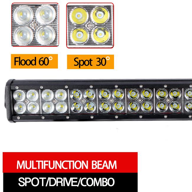 CREE LED Work Light Bar Dual Row (12inch, Flood Beam, IP68 Waterproof)
