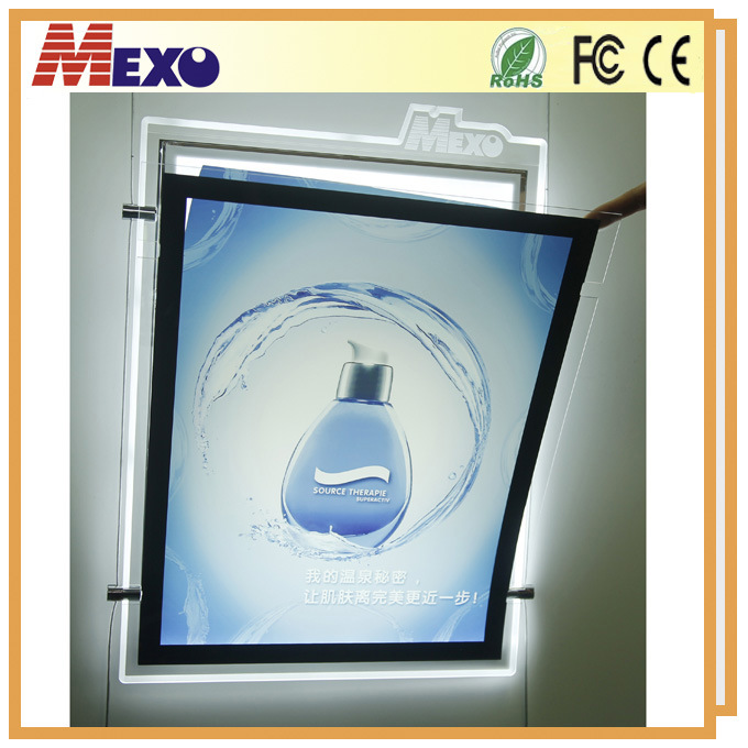 Crystal Acrylic Advertising Magnetic LED Light Box with Logo