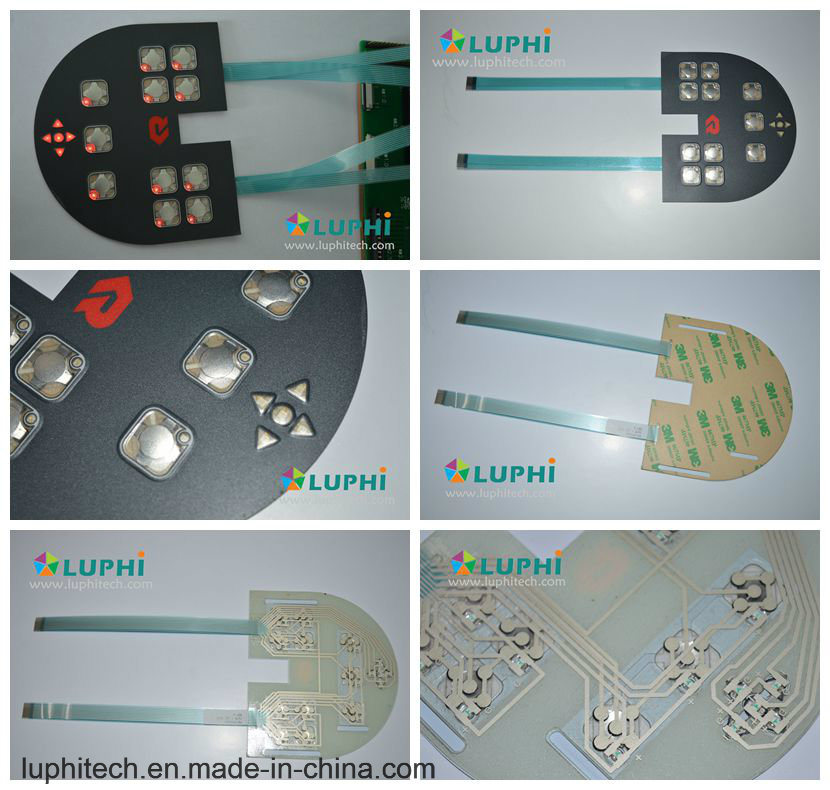 Membrane Control Keypad Membrane Switch Printing Overlay with LED Backlighting