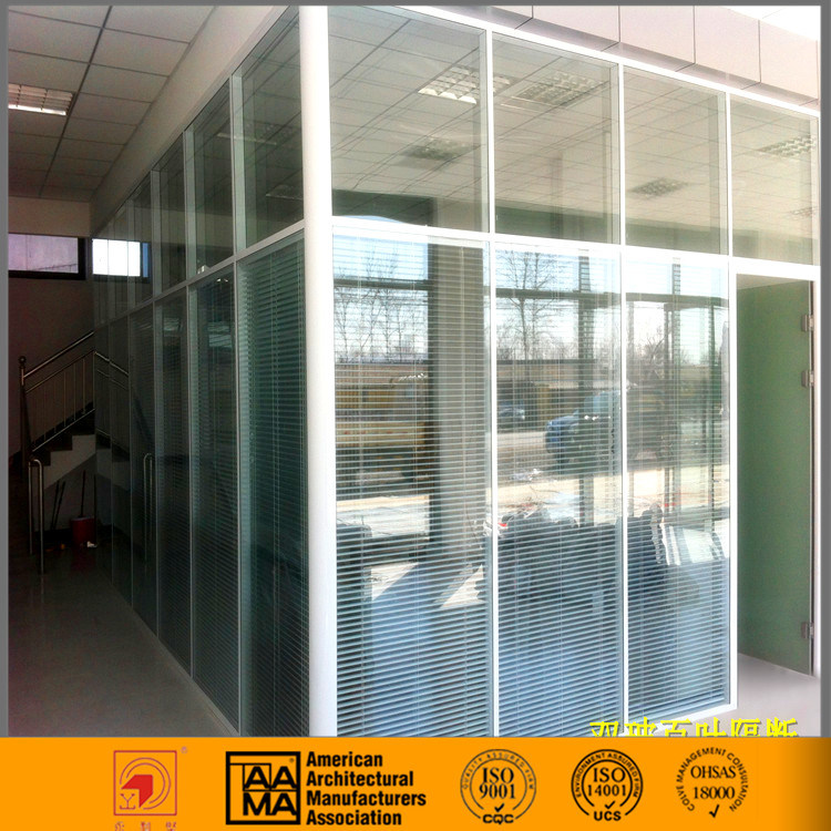 Dismountable Office Glass Partition Wall with Door