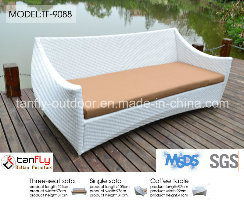 Leisure Design Luxury White Wicker Rattan Garden Patio Furniture
