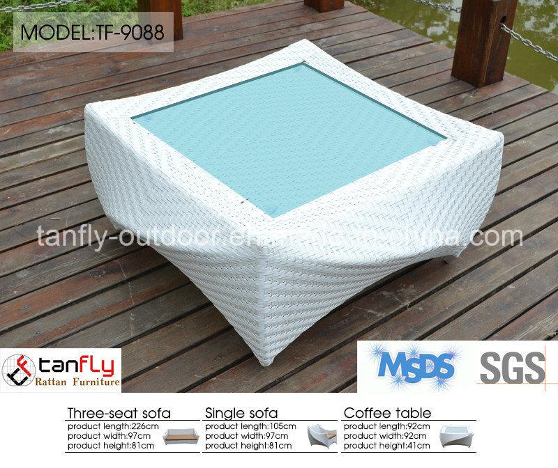 Leisure Design Luxury White Wicker Rattan Garden Patio Furniture