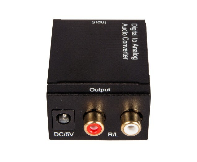 Digital Optical Coaxial RCA Toslink Signal to Digital Analog Audio Converter