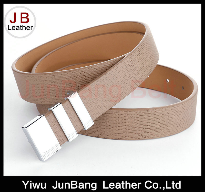 Unique Style Plate Buckle PU Belt