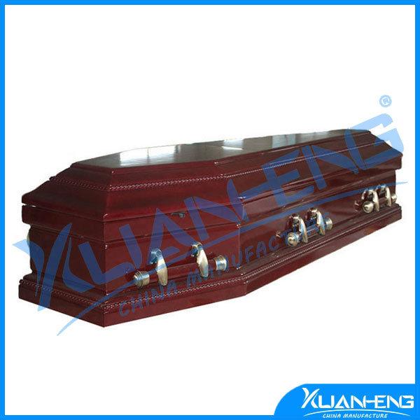 Italy Poplar Funeral Coffin Casket