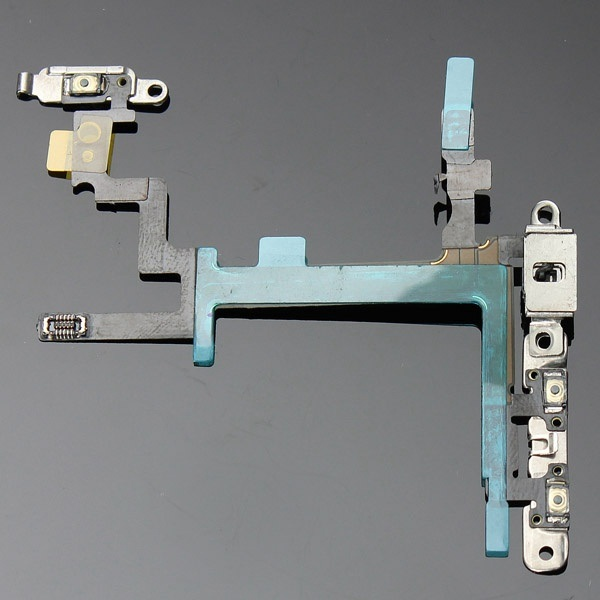 High Quality Power Push Button Switch Sleep Wake Flex Cablehigh Quality Power Push Button Switch Sleep Wake Flex Cable Metal Repl Metal Replacement for iPhone5